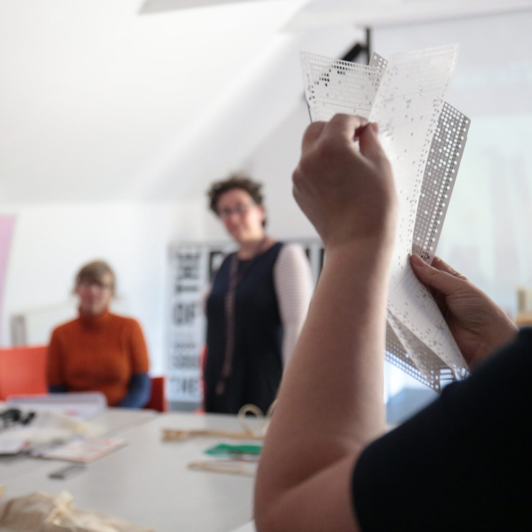 Makers taking part in a sharing workshop