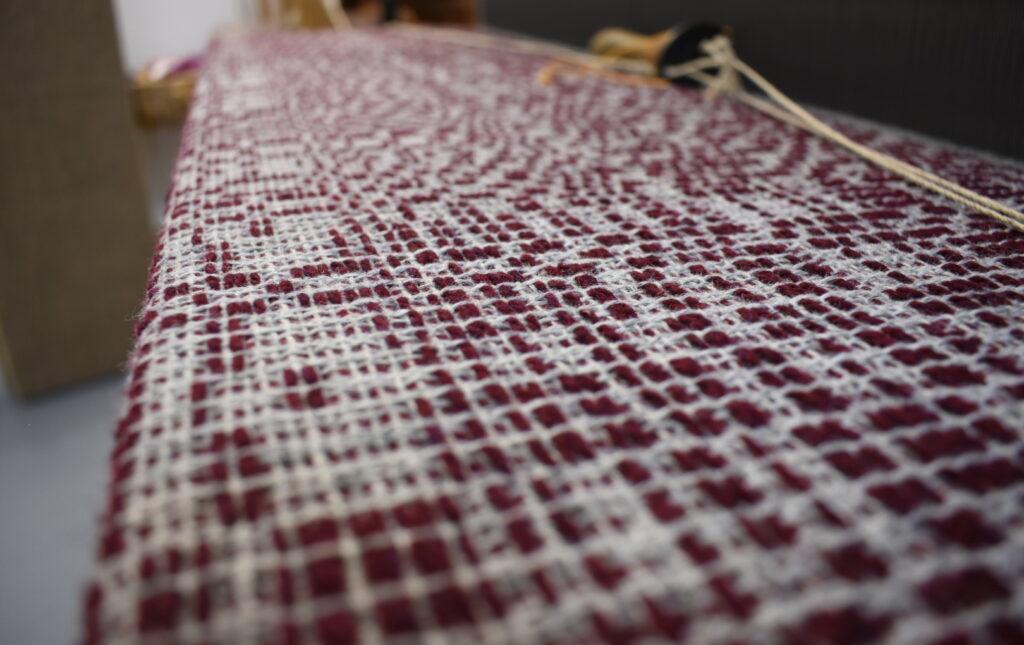 Work in progress on the loom